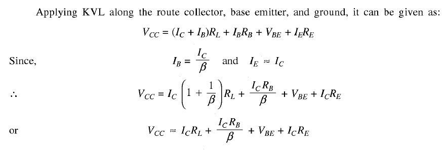 Figure  A  Base Bias With Collector And Emitter Feedback